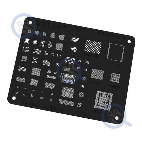 wylie-black-bga-reballing-stencil-for-iphone-8-8p-X
