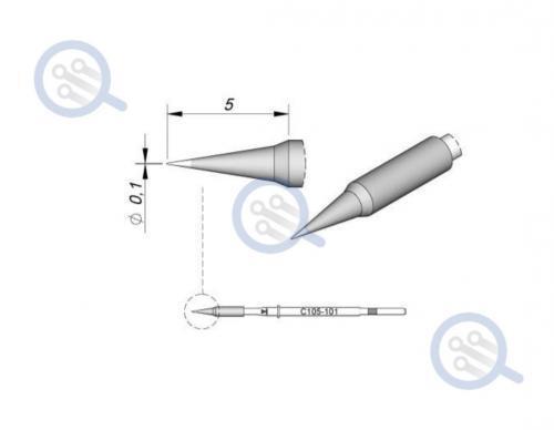 jbc c105-101 super fine tip for micro soldering jbc nase-2b
