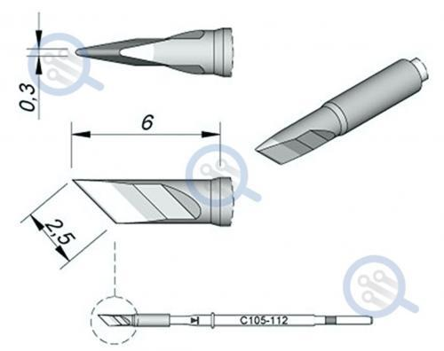 jbc c105-112 knife tip for micro soldering cleaning